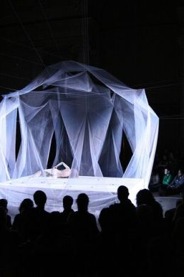 Butoh performance by Ximena Garnica - stage design by Shige Moriya by Asian Art Museum