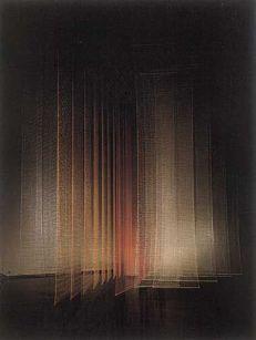 'Fabric in Space' - exhibition by Toshiko Horiuchi Tokyo Metropolitan Art Museum. 1987, Japan