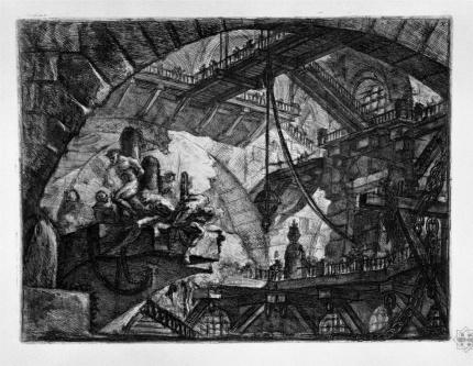 PIRANESI prisoners-on-a-projecting-platform